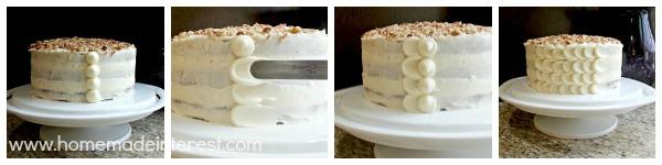 Frosting Hummingbird cake