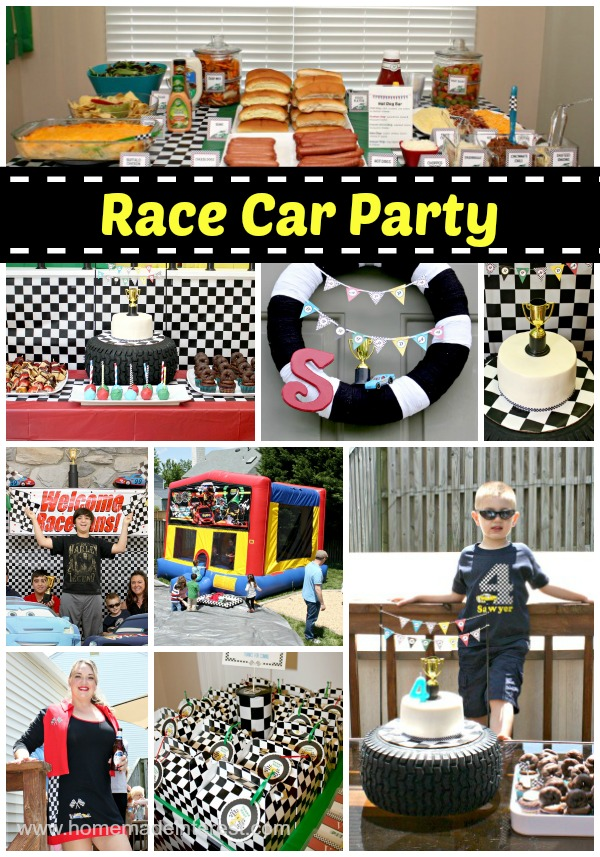 Race Car party decor, food, and entertainment.