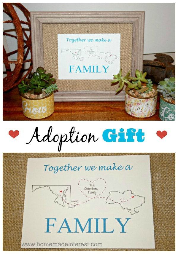 Personalized Printable Adoption Gift - Home. Made. Interest.