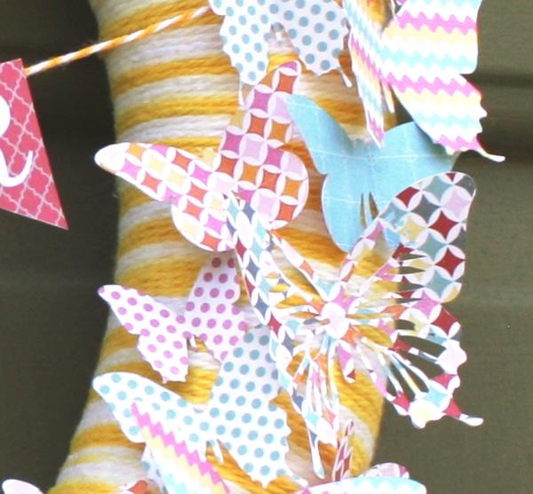 Butterfly Summer Wreath {www.homemadeinterest.com}