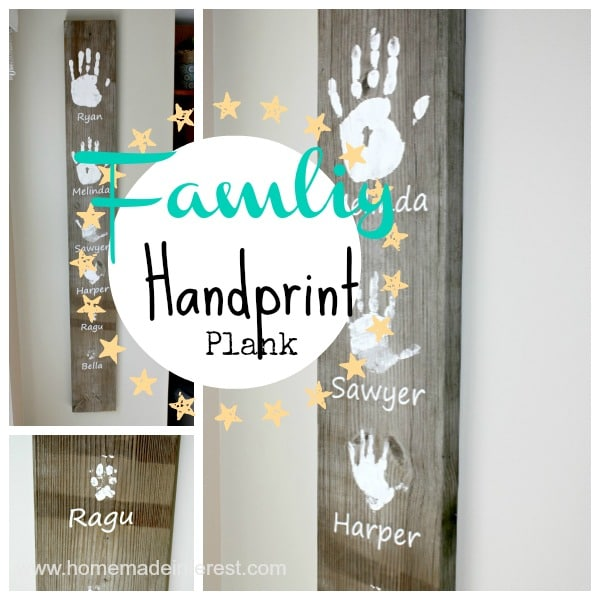 Personalized Family Handprint Plank