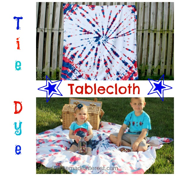 Tie Dye Tablecloth tutorial {www.homemadeinterest.com}