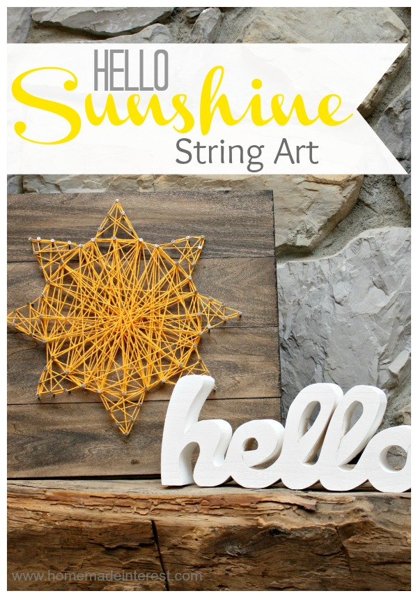 sunshine string art
