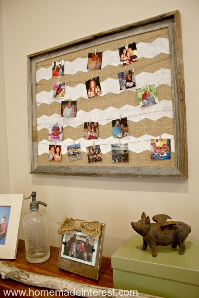 Instagram Photo Frame {www.homemadeinterest.com}