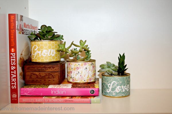 Upcycled cans {www.homemadeinterest.com}