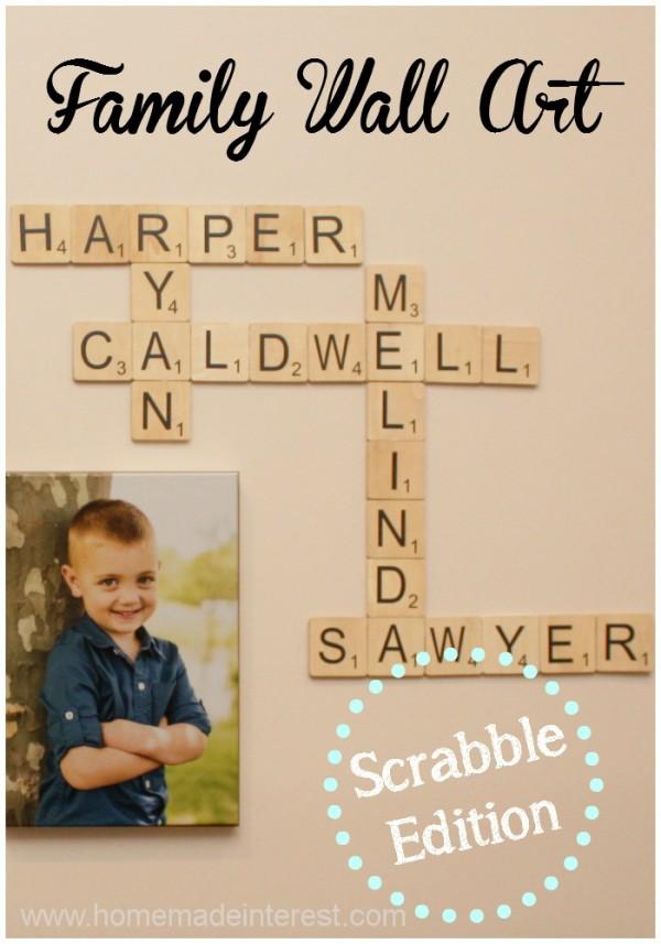 Family Wall Art: Scrabble Edition {www.homemadeinterest.com}