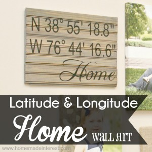 Latitude and Longitude Wall Art {www.homemadeinterest.com}