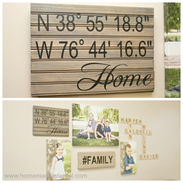Latitude and Longitude {Home} Wall Art {www.homemadeinterest.com}