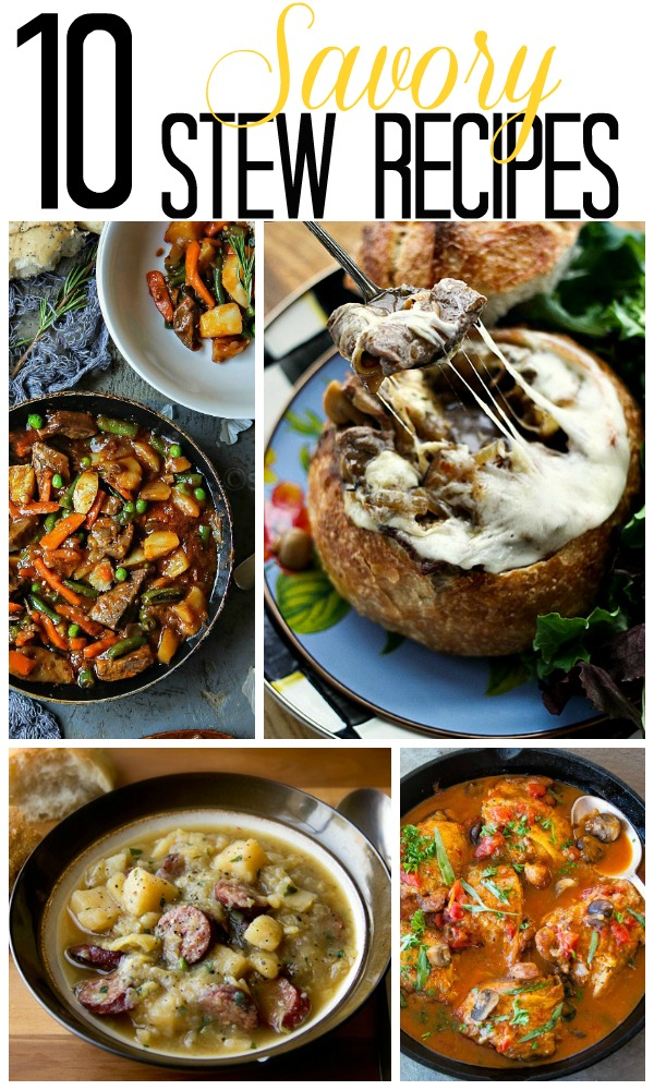 10 Savory Stew Recipes | Home. Made. Interest.  Fall is the perfect time to enjoy a savory hearty stew tat the whole family will enjoy.