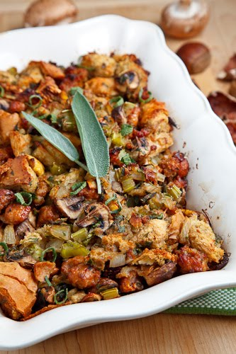 This Italian Sausage, Mushroom and Chestnut Stuffing is savory and ...