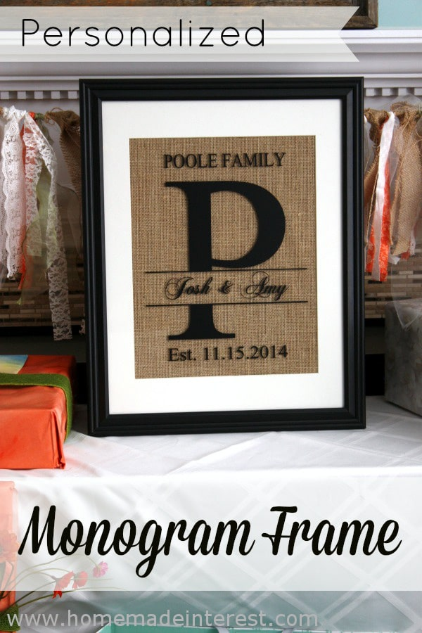 Monogram Picture Frames are the perfect gift for weddings and anniversarys and now you can make your own! #monogram #gift #silhouette