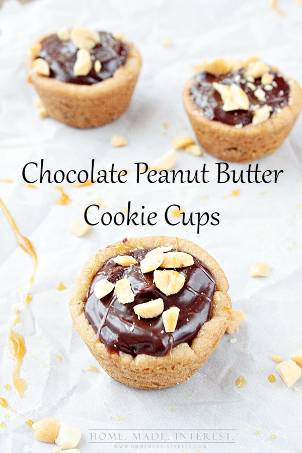 This Chocolate Peanut Butter Cookie Cups Recipe combines chocolate ...