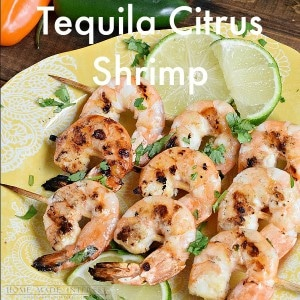 ... grilled shrimp that has been marinated in a tequila orange marinade