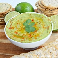 Avocado hummus is a simple recipe that is perfect for a snack or for a party. Gluten-free!