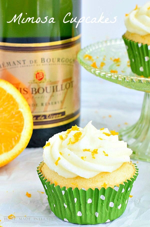 Mimosa Cupcakes combine champagne frosting and orange cupcakes to make ...