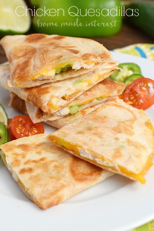 Easy Chicken Cheese Quesadillas