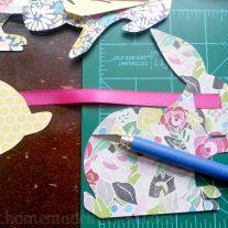 Easter Bunny Garland {www.homemadeinterest.com}