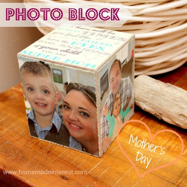 Great personalized photo block for any holiday. Mother, Grandparents, teachers and aunts will love this.