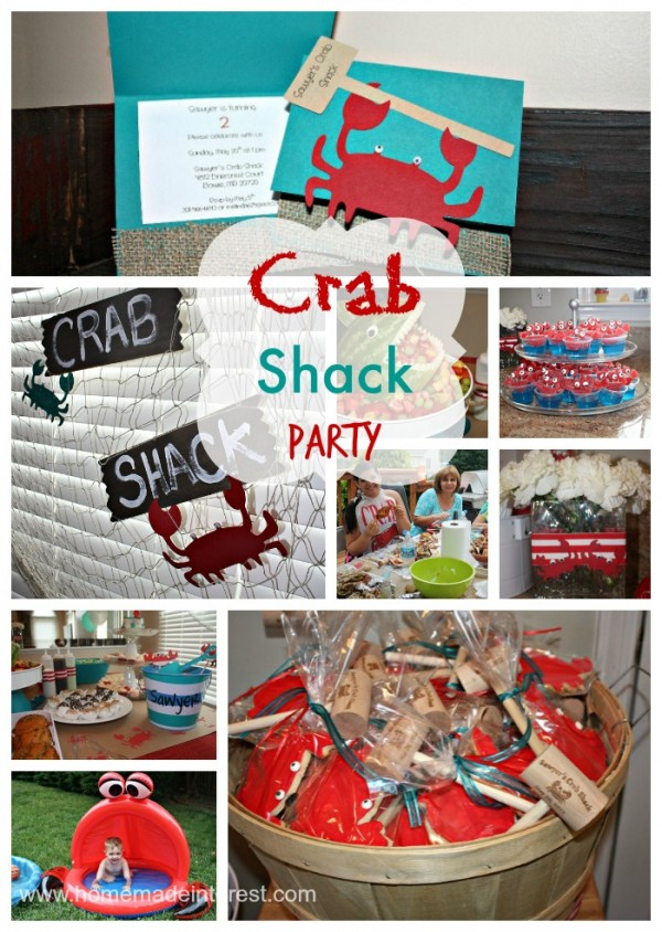 From crab decorations to crab desserts this Crab Shack themed birthday party has everything. I love the appetizer and sides ideas to go with a crab feast!
