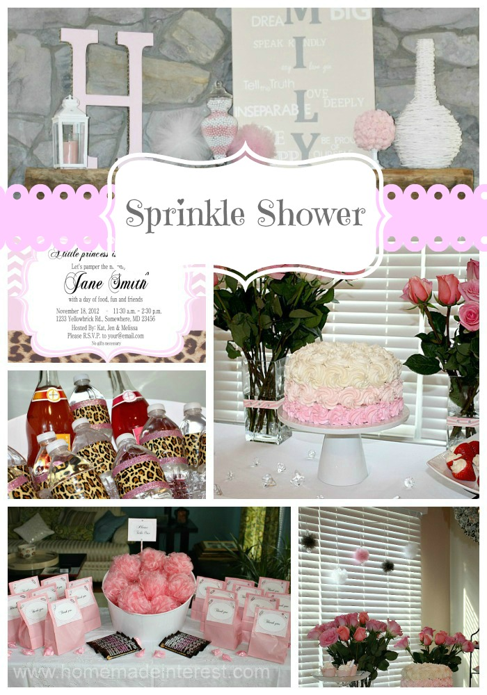 This sprinkle is a great way to welcome a new little diva into the world. A little girl baby shower with pink chevron, leopard print, and lots of tulle!