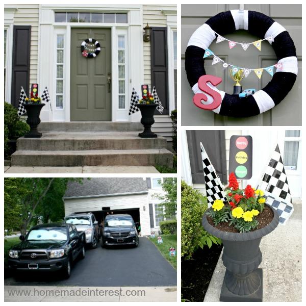House decor for Race Car party.