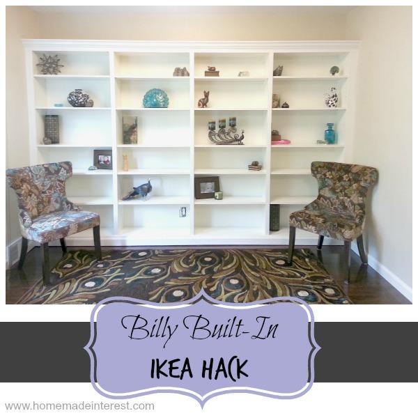 Billy-to-Built-In Ikea Hack {www.homemadeinterest.com}