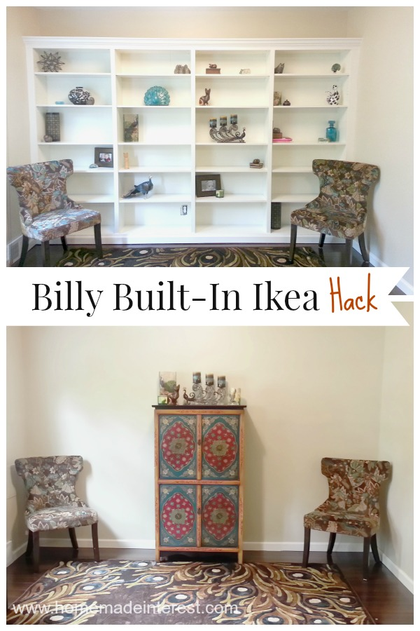 billy to built ins ikea hack home made interest. Black Bedroom Furniture Sets. Home Design Ideas