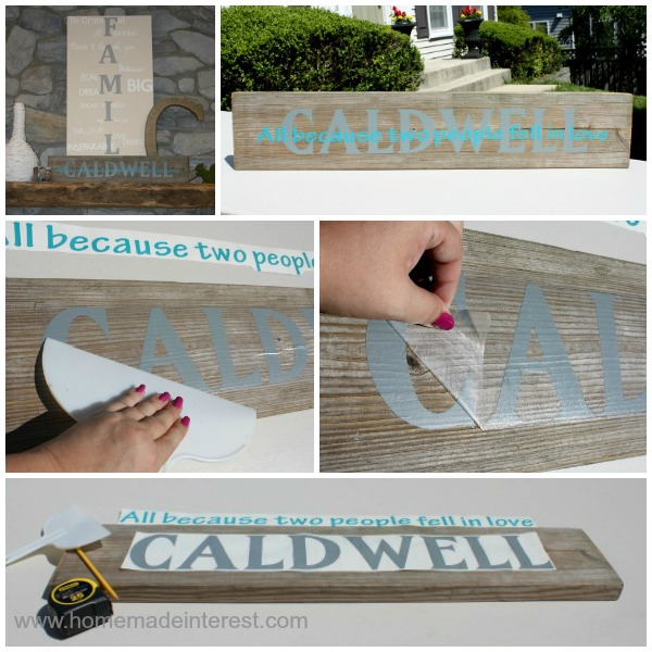Family name sign home made interest do you love personalized home decor and diy crafts that you can do yourself this solutioingenieria