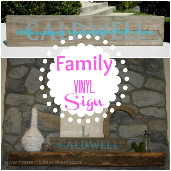 Do you love personalized home decor and diy crafts that you can do yourself. This Personalized plank is simple to make with just a plank of wood and some vinyl. Use your family name, your kids names or just your favorite quote. Perfect for hanging on a wall or sitting on your mantel.