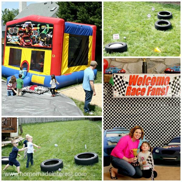 Race Car party theme entertainment for kids.