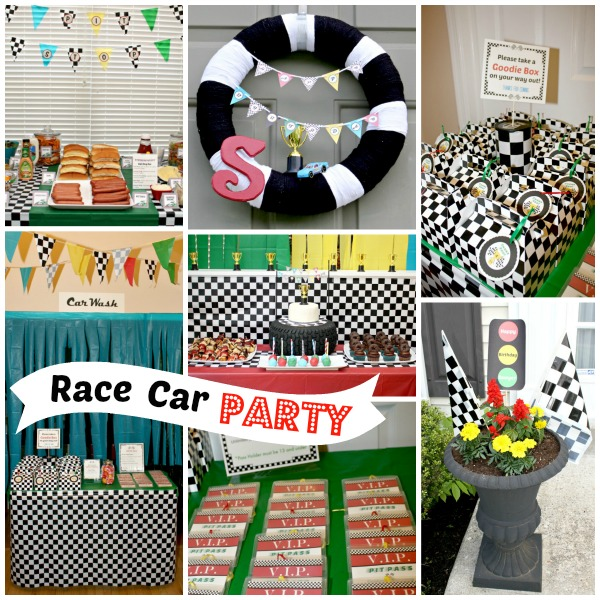 Race Car Birthday Party {www.homemadeinterest.com}