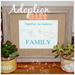 Personalized Adoption Printable Gift {www.homemadeinterest.com}