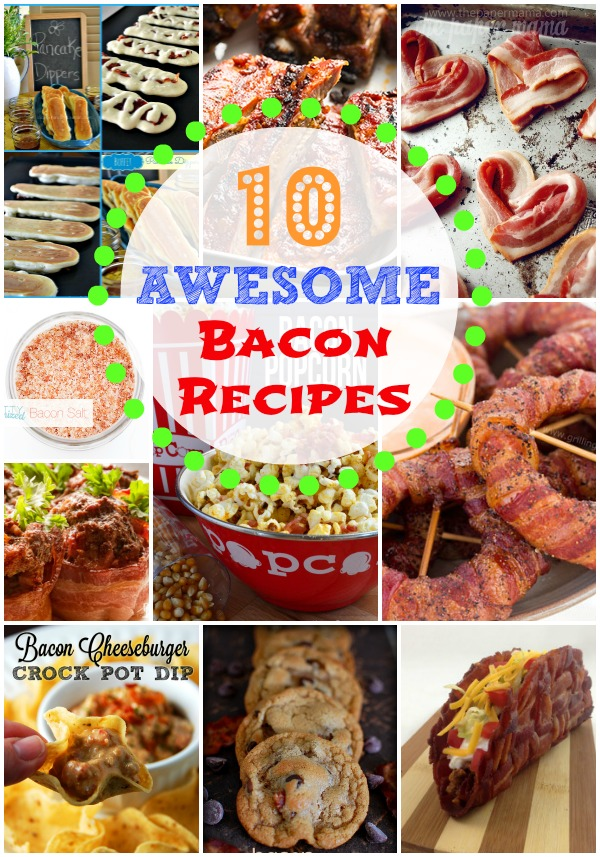 These are some of the Best Bacon Recipes we could find. Everything from Bacon wrapped onion rings to slow cooker bacon cheeseburger dip!