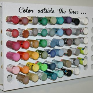 Craft Paint Organizer {www.homemadeinterest.com}