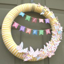 Welcome summer with this hello summer butterfly wreath. It even has a free printable to get you started!