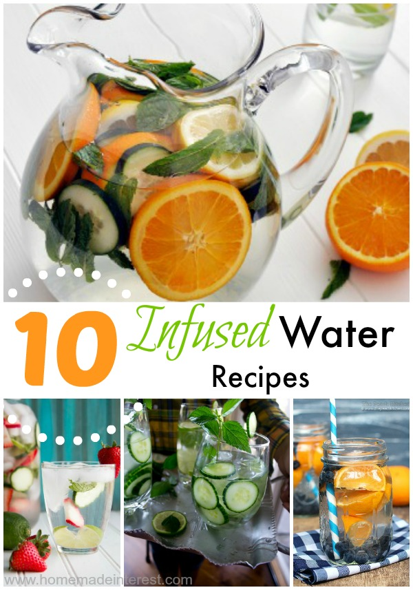 I love infused water recipes they are a great, all natural way to use fruits and herbs to add a little sweetness and a little flavor to your water in a low calorie way.