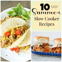 10 Summer Easy Slow Cooker Recipes- square