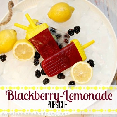 Blackberry-Lemonade Popsicle