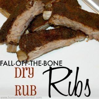 Dry Rub ribs Recipe {www.homeamdeinterest.com}