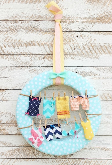 Summer Swimsuit Wreath by Fynes Designs