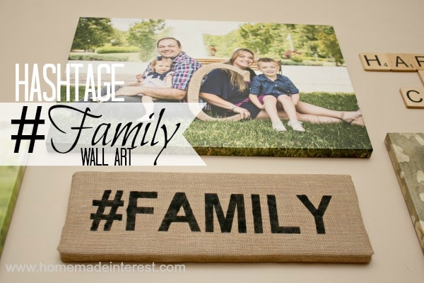 This is burlap family wall art is a simple diy craft that is so trendy with its hashtag. Just some foam, paint and burlap and you've got yourself an inexpensive piece decor. It's the perfect addition to a family gallery wall.