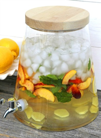 Ginger-Peached Infused Water