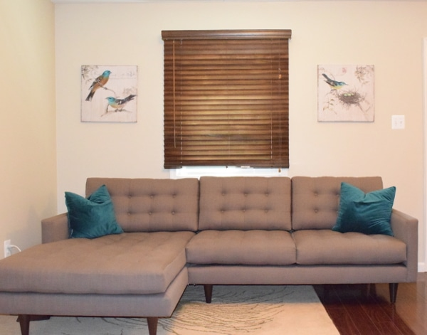 Mid Century Modern Sectional {www.homemadeinterest.com}