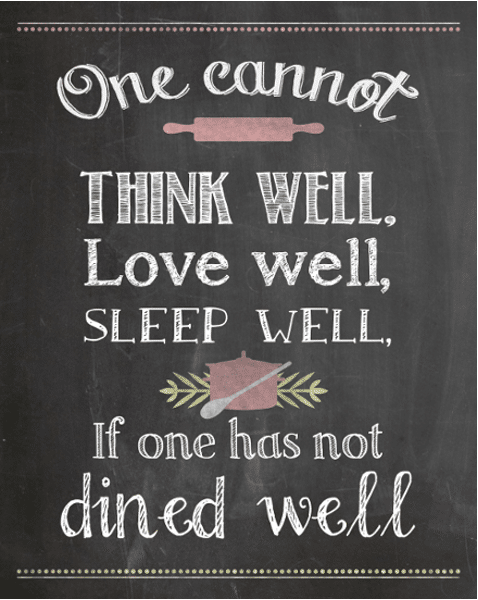 Kitchen Printable - Virginia Woolfe Quote {www.homemadeinterest.com}