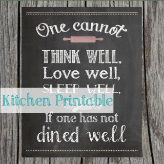 Kitchen Printable {www.homemadeinterest.com}
