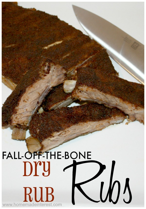 Fall-Off-The-Bone Dry Rubbed Ribs {www.homemadeinterest.com}