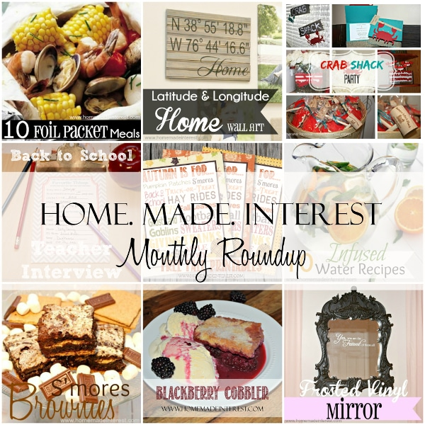 Home. Made. Interest. Monthly Roundup - August 2014 {www.homemadeinterest.com}