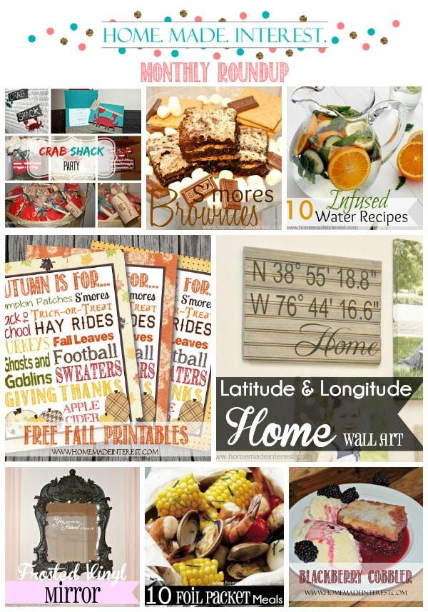 Home. Made. Interest. Monthly Roundup August 2014 {www.homemadeinterest.com}
