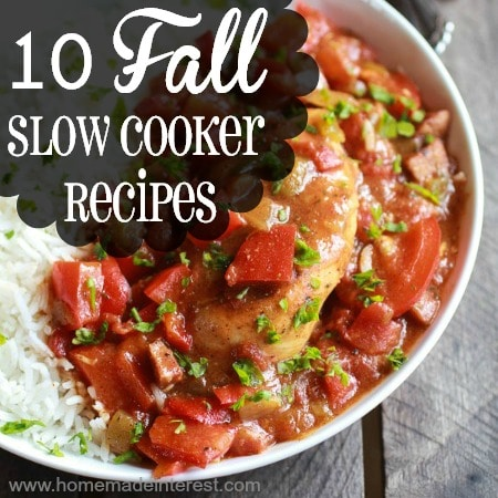 There is nothing like coming home to the smell of dinner that has been cooking in a slow cooker all day. These Fall crockpot recipes will keep you warm through the winter. Kids and adults will love these easy fall slow cooker recipes and you will have so much more time for all of the fun stuff!