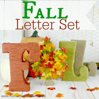 This is such a simple fall craft,using letters, yarn, and fall leaves. Perfect fall decoration for your mantle.
